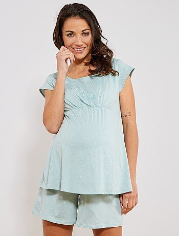 Zwangerschapskleding Pyjama.Zwangerschap Pyjama Borstvoeding Kiabi