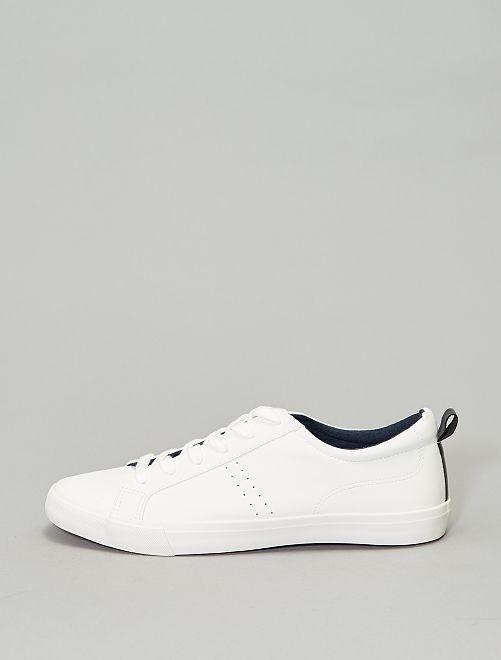 Lage effen sneakers                                                     wit