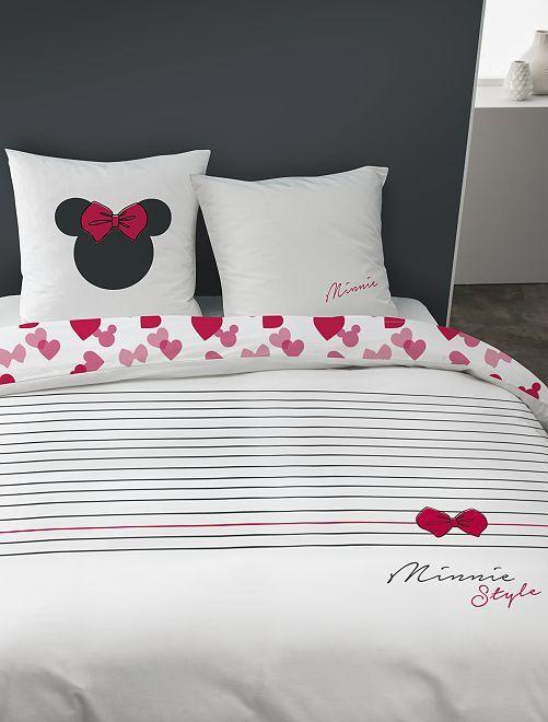 Lakenset voor 1- of 2-persoonsbed 'Minnie'                             wit