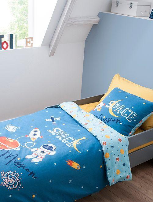 Lakenset voor 1-persoonsbed                             blauw