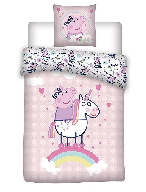 Lakenset voor 1-persoonsbed 'Peppa Pig'                             roze