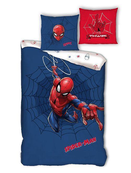 Lakenset voor 1-persoonsbed 'Spider-Man'                             blauw
