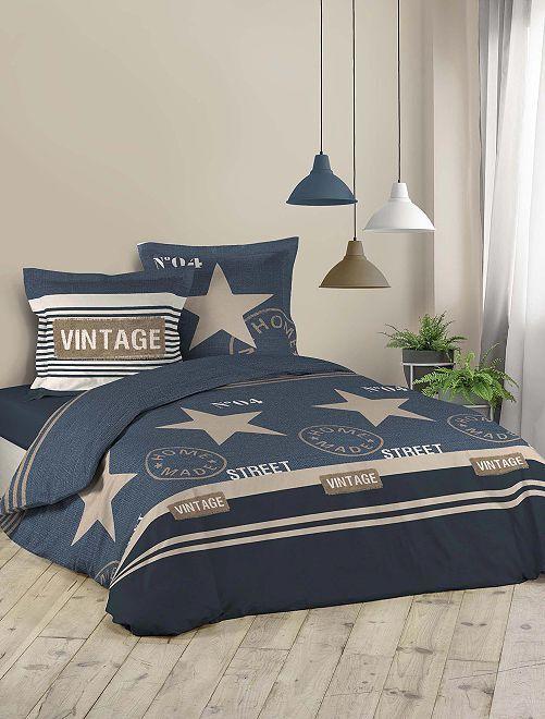 Lakenset voor 2-persoonsbed                             blauw