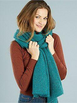 Lange grof gebreide sjaal