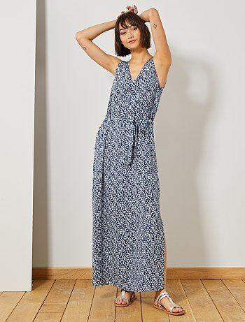 65b47b150b4090 Lange  JDY -jurk met split - Kiabi