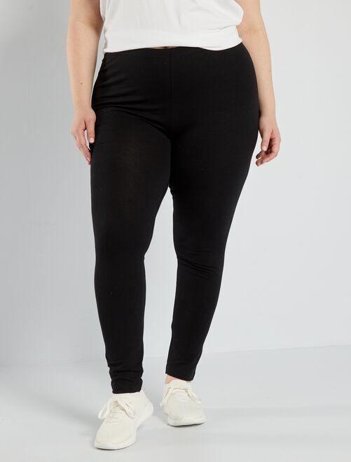 Lange, katoenen stretch legging                                                                 zwart