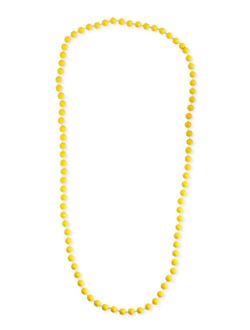 Lange kralenketting                                                                 geel