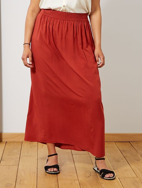 6922367c392661 Lange rok met elastische taille Dames size+ - rood - Kiabi - 20