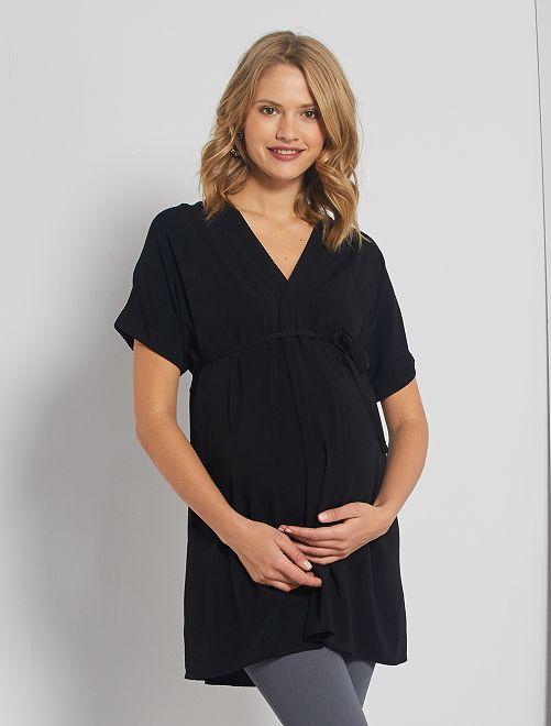 Lange zwangerschapstuniek                                                     zwart