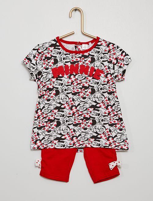 Legging + T-shirt 'Minnie'                             grijs / rood