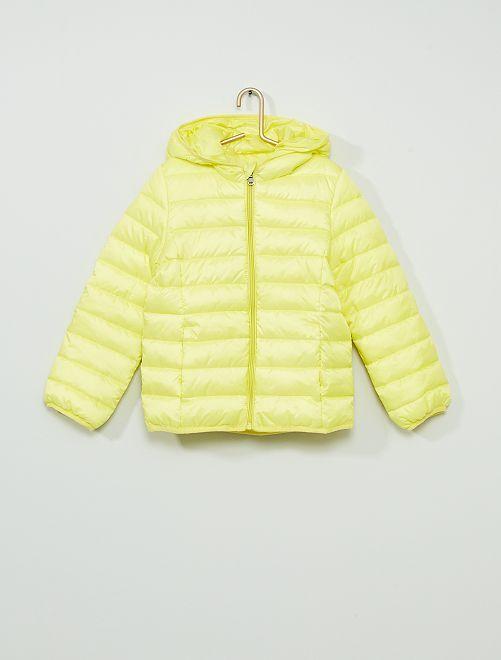 Licht gewatteerd donsjack                     geel