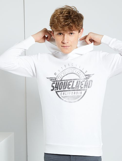 Lichte sweater met print                                                                 WIT