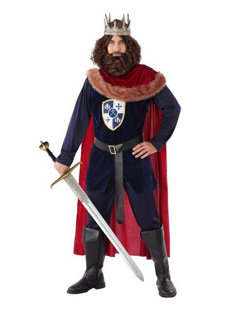 Middeleeuwse koning verkleedkleding                             BLAUW
