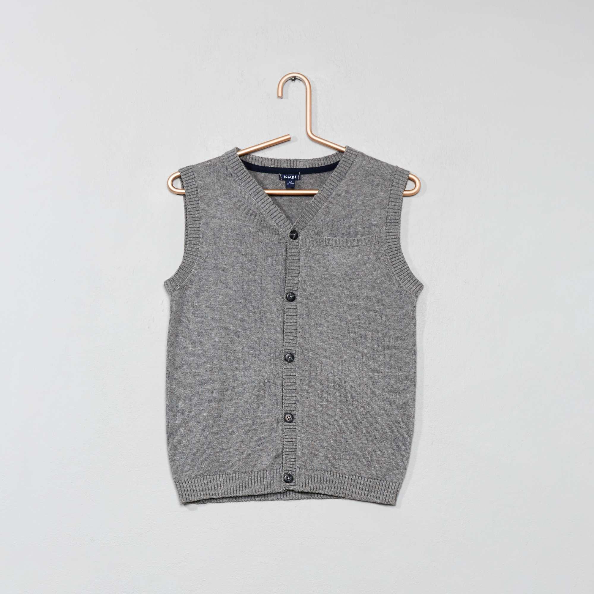 Vest Kinderkleding.Mouwloos Vest Kinderkleding Jongens Grijs Kiabi 8 00