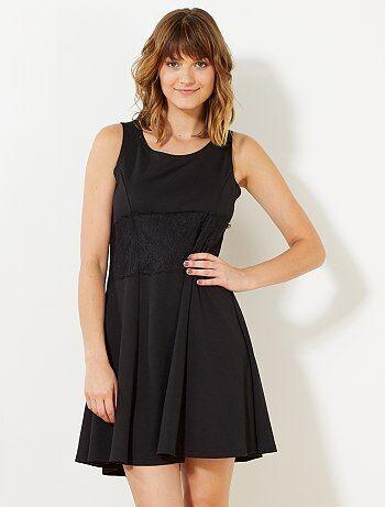 Mouwloze, geplooide jurk - Kiabi