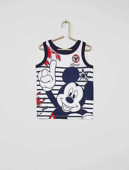 Mouwloze top 'Mickey Mouse'                                         wit / blauw