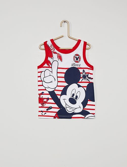 Mouwloze top 'Mickey Mouse'                                         wit / rood