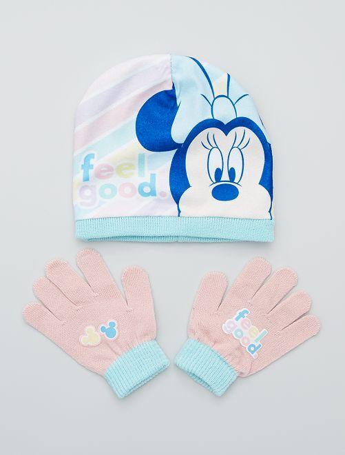 Muts + handschoenen 'Minnie' van 'Disney'                             roze / blauw