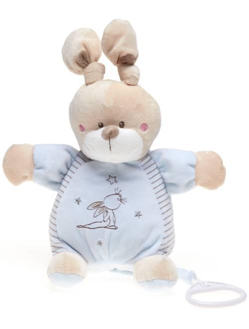 Muziekknuffel konijn                                                     blauw Jongens babykleding