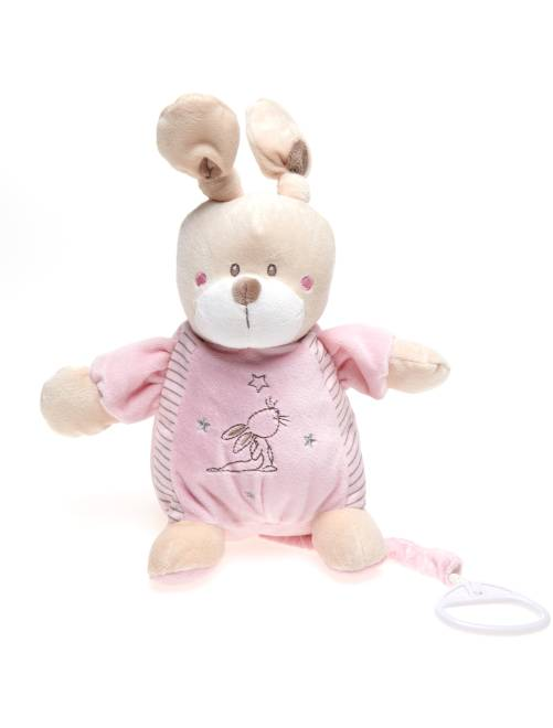 Muziekknuffel konijn                                                     roze