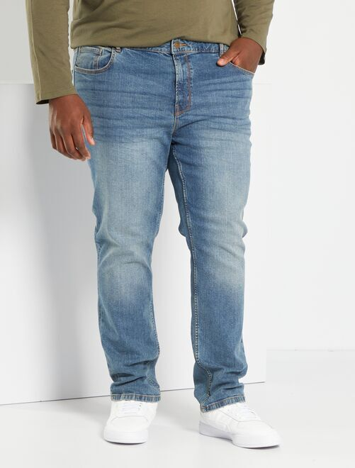 Nauwsluitende jeans van stretchkatoen L32                                                                                         BLAUW