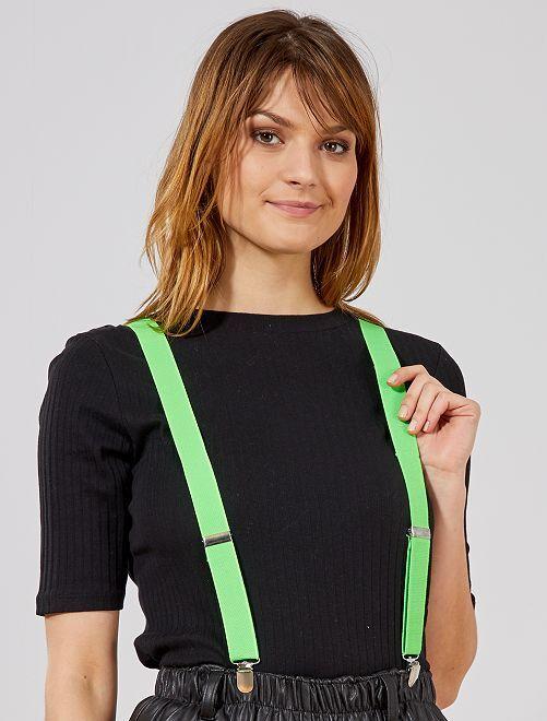 Neonkleurige bretels                                                                 groen neon Accessoires