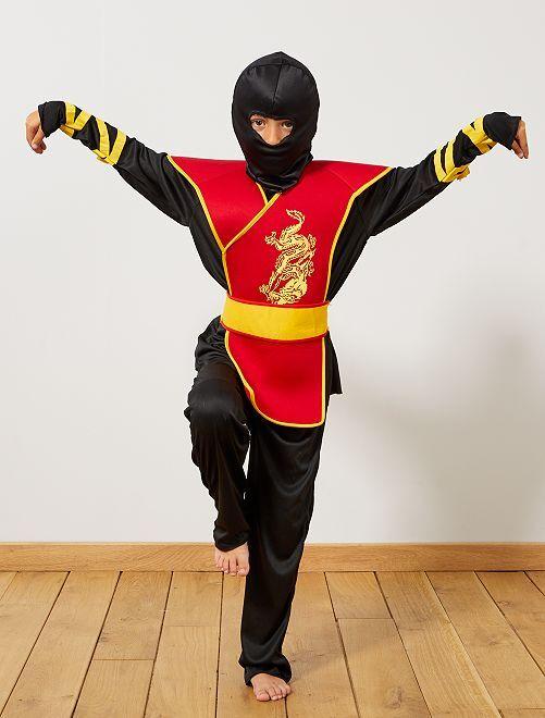 Ninja-verkleedkostuum                             zwart / rood