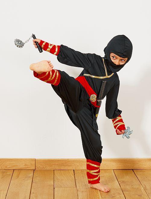 Ninjakostuum met accessoires                             zwart / rood