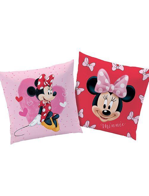 Omkeerbaar kussen 'Minnie'                             roze / rood