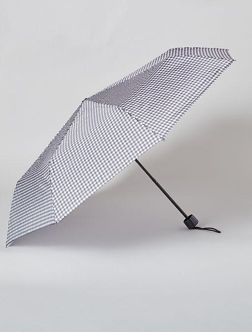 Opvouwbare donkerblauwe paraplu                                                                 ZWART