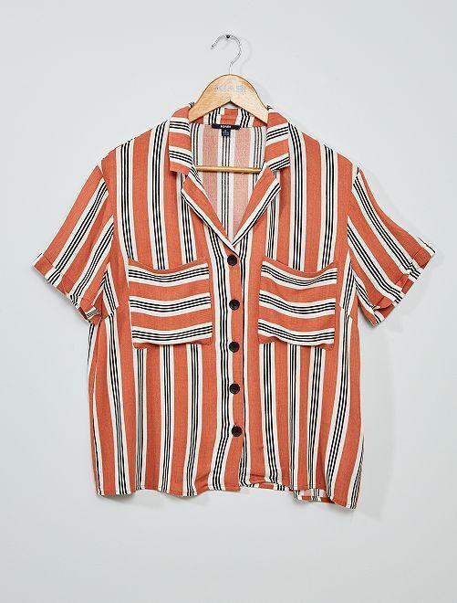 Overhemdbloes met print                                                     ROSE