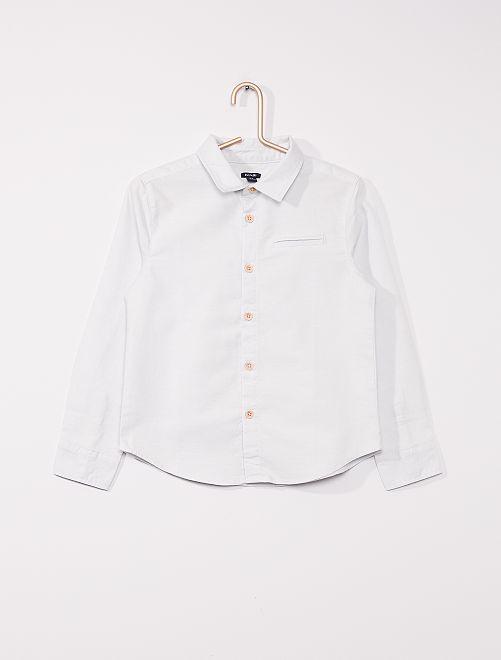 Oxford-hemd met lange mouwen                                         blauw grijs
