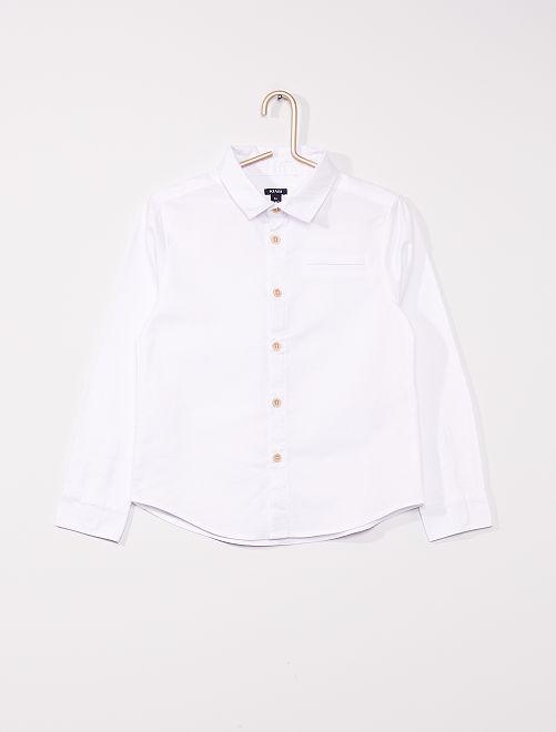 Oxford-hemd met lange mouwen                                         wit
