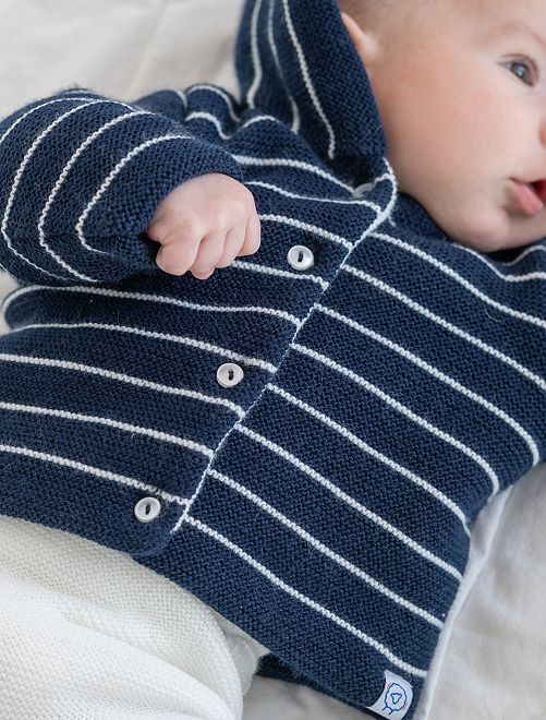 Paletot van tricot 'La Manufacture de Layette'                                         BLAUW