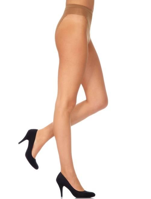 Panty van 'Dim' met zonnige tint en platte buik                                         biege