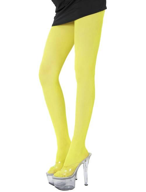 Panty's                                                                             geel neon Dames