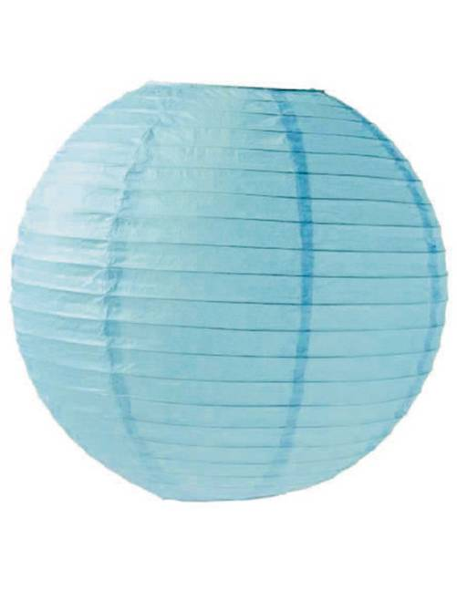 Papieren Chinese lampion van 35 cm                                                                                                     blauw
