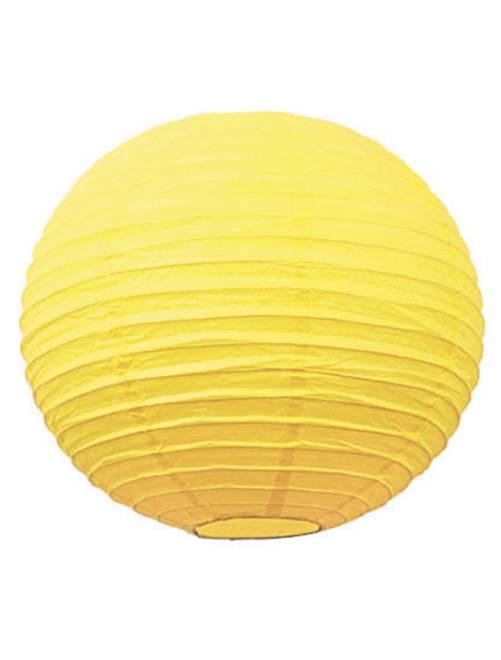 Papieren Chinese lampion van 35 cm                                                                                                     geel