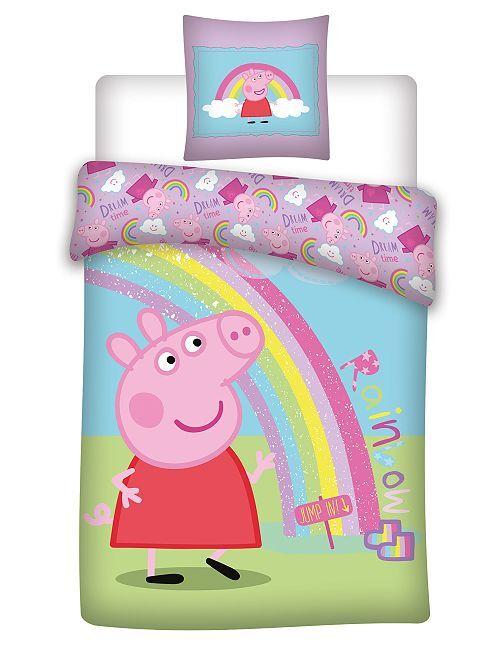 'Peppa Pig'-lakenset voor 1-persoonsbed                             blauw