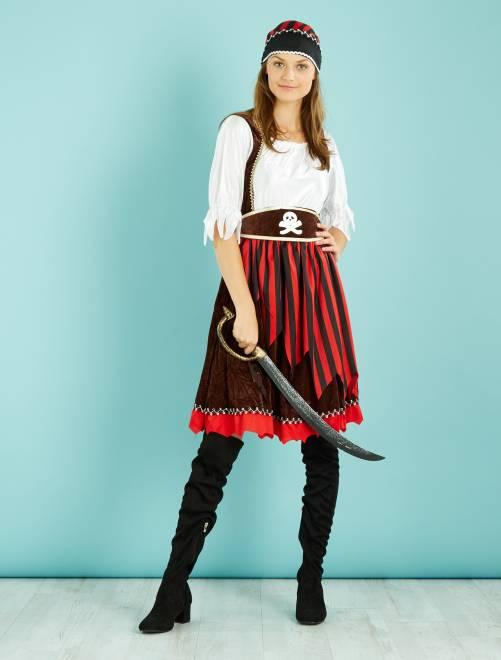 Piraat verkleedkostuum                             zwart / rood