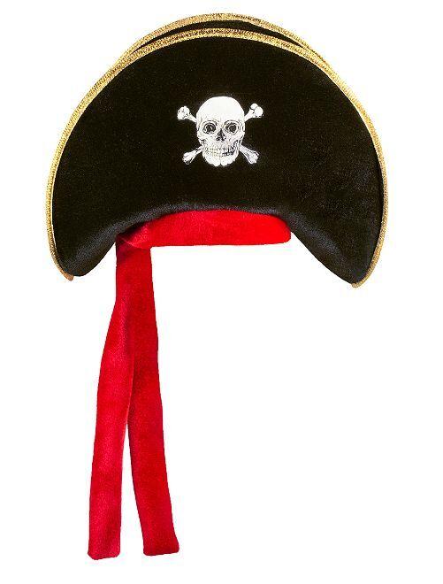 Piratenhoed                             zwart / rood