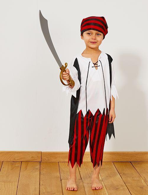 Piratenkostuum                             zwart / rood / wit