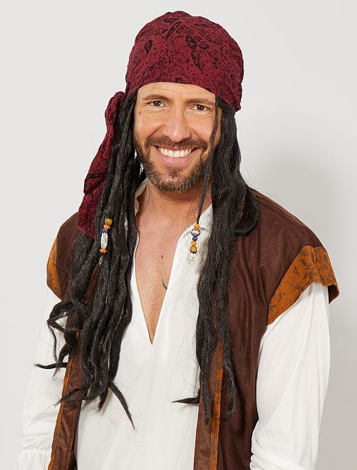 Piratenpruik                             zwart