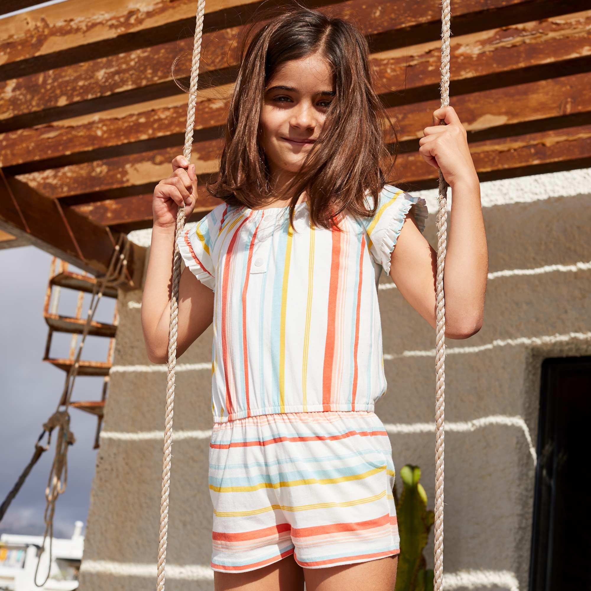 Kinderkleding En Meer.Playsuit Met Een Print Kinderkleding Meisjes Meerkleurig Gestreept