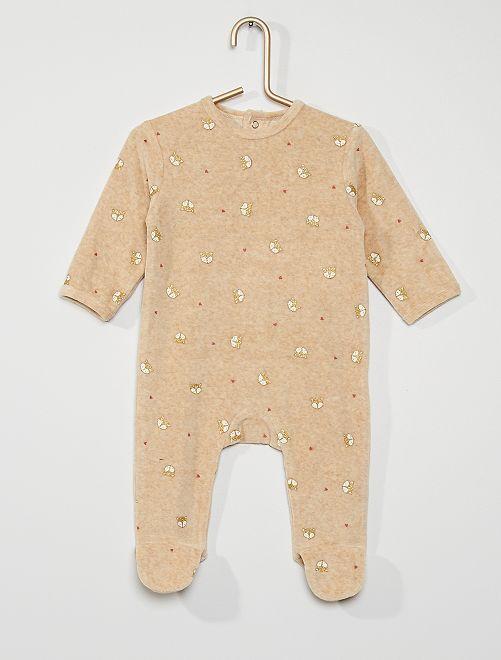 Pyjama van velours                                                                                                                                                                                                                                         BIEGE