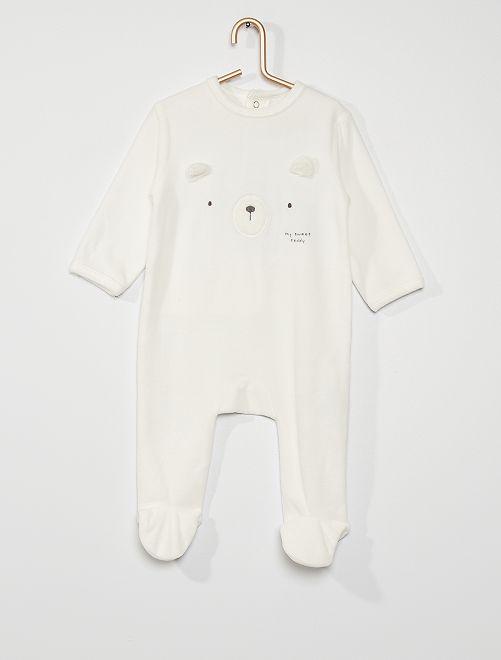 Pyjama van velours                                                                                                                                                                                                                             WIT