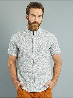 Overhemden - Recht katoenen overhemd met korte mouwen en een print