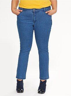 Denim - Rechte five-pocket stretch jeans