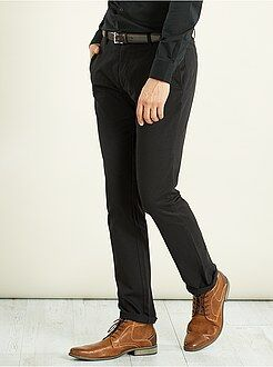 Broek - Regular chinobroek van stretch twillstof
