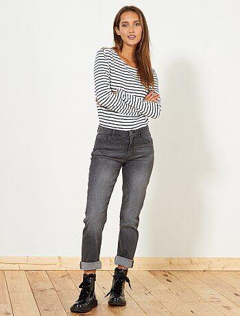 Regular jeans met een hoge taille - Kiabi